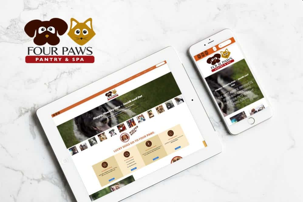 Four Paws Pantry & Spa Website Redesign