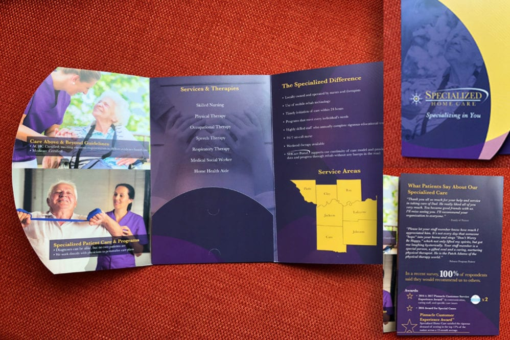 Brochure Design for Specialized Home Care