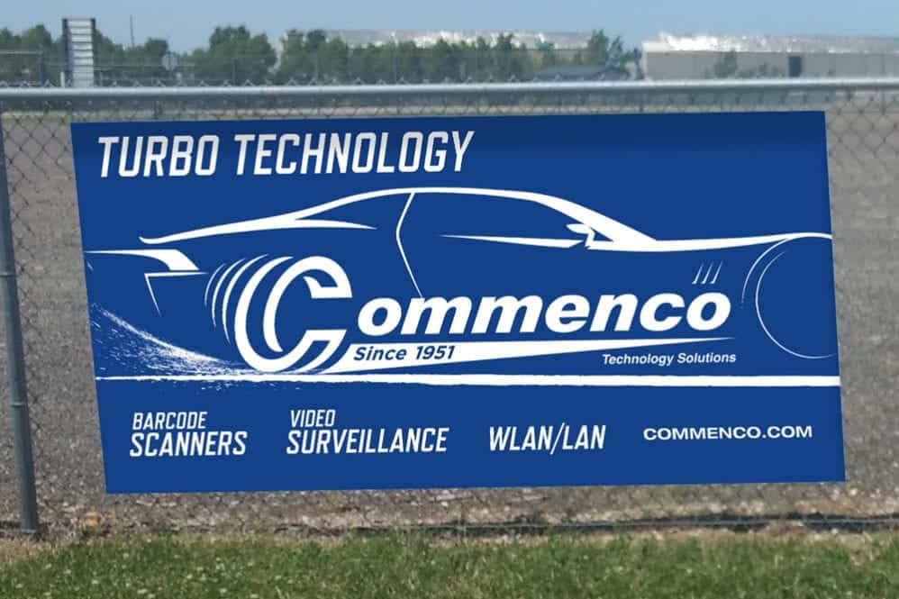 Commenco Racetrack Signage